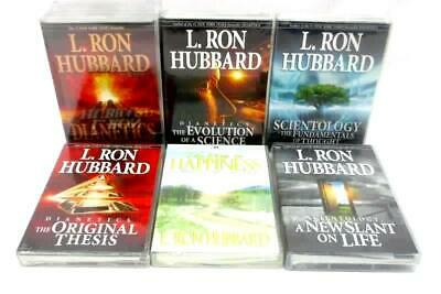 Lot of 6 L Ron Hubbard Scientology And Dianetics CD Sets With Books