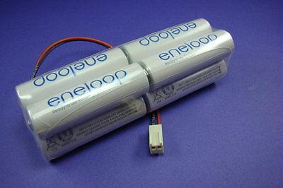 Senderakku Panasonic Eneloop 9,6V für Futaba Molex Stecker