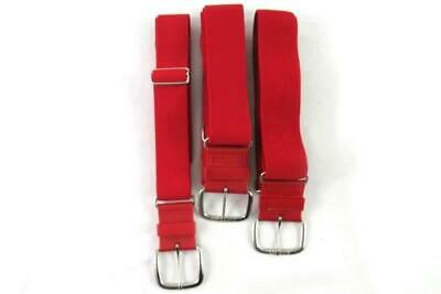 Lot of 3 Youth Red Baseball Belts Adidas All Star Elastic Adjustable