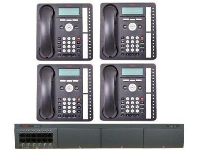 New Avaya Ip500 V2 Digital Phone System Package W 4 Phones