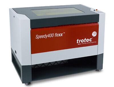 Trotec Speedy 400 Flexx 120 Watt Co2 Laser 30 Watt Fiber Engraver