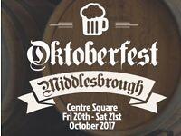 Bar work Oktoberfest Middlesbrough 20th and 21st October