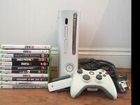 Xbox 360 plus 10 games