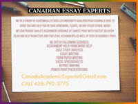 ESSAYS - ASSIGNMENTS - PAPERS - MONTREAL.QB