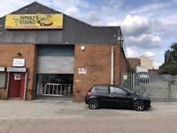 Licenced Breaker Yard and Car Body Repairs Garage for sale 7yr lease 15000 sq ft unit & yard