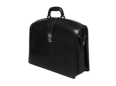 - Bosca Old Leather Partners Brief - Black 823-59