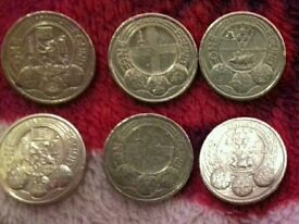 capital cities 2 cardiff 2 london and 2 belfast 1 pound coins