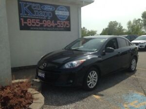 2012 Mazda Mazda3 GS, HEATED SEATS, LEATHER, MANUAL, 2.0L 4,CYL