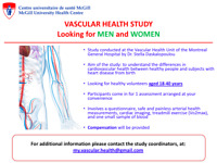Participants for exercise and vascular health study