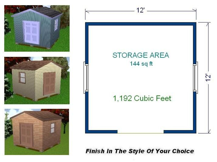 12x12 storage shed plans package blueprints material for Shed plans and material list