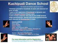 Indian classical dance class. Kuchipudi