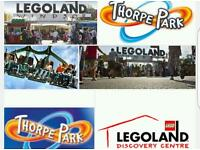 15 pounds theme park tickets thorpe park legoland many more