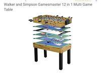 Walker & Simpson 12 in 1 games table