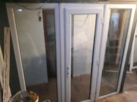 Door uPVC and side panel windows