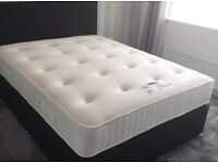 Double Divan Bed Base with Headboard || Mattress (Available Separately)-Free Pillows!
