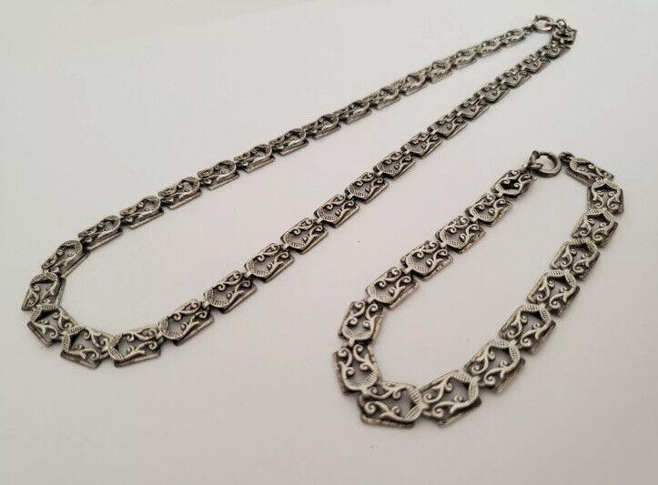 Vintage Danecraft Sterling Silver Choker & Bracelet Set