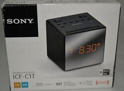 Sony - AM/FM Dual-Alarm Clock Radio ICF-C1T  – Black - Shelf Model
