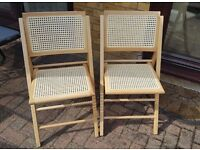 Wooden folding chairs (pair)