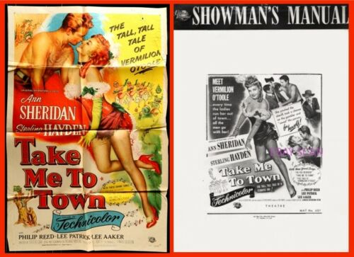 TAKE ME TO TOWN pressbook AND POSTER, Ann Sheridan, Sterling Hayden