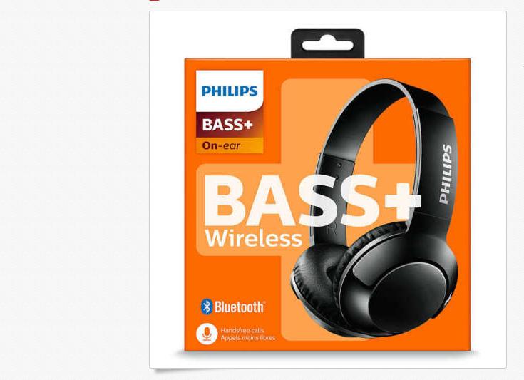 Philips Extra BASS+ Bluetooth Wireless On-Ear Headphones wit