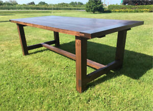 Beautiful Harvest Tables in Knotty Pine. 7 foot length. Handmade