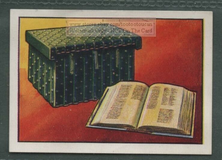 1066 Doomsday or Domesday Book and Chest Survey Vintage Trade Card