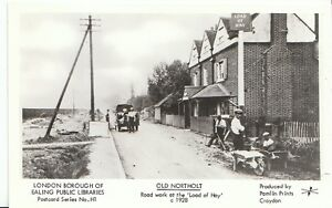 London-Postcard-Old-Northolt-Road-Work-at-The-Load-of-Hay-c1928-2364