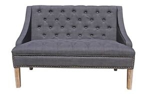 CHERMONT SOFA - LOVE SEAT WITH DECORATIVE STUDS - ELEGANT & COMFORTABLE