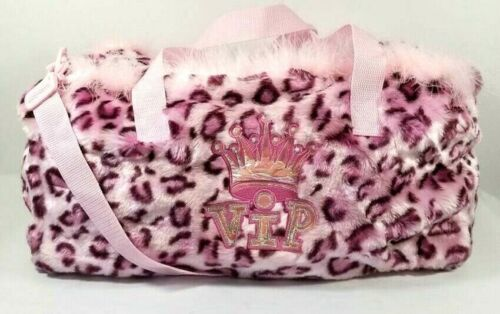 Club Libby Lu Duffel Bag Pink Animal Print Feather VIP NI-8396 NEW Hard to Find
