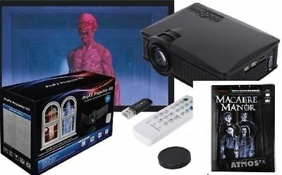 Halloween ATMOSFEARFX MACABRE MANOR DVD + PROFX PROJECTOR KIT Haunted House NEW - Halloween Dvd Projector