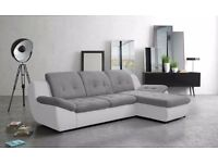 Delivery 1-10 days Relaxation and comfort Mello brand new corner Sofa bed Leather or Fabric