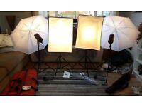Complete Studio Pro line Set up and Back drop with infa-red