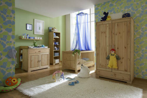 kleiderschrank kiefer massiv gelaugt ge lt kinderzimmer holz. Black Bedroom Furniture Sets. Home Design Ideas