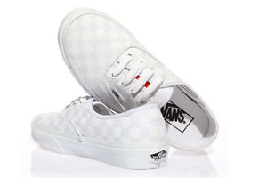 VANS-Mens-Shoes-AUTHENTIC-Checkered-True-White-NWT