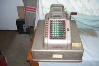 ELECTRIC ANTIQUE CASH REGISTER 1940S ALL STEEL NO BRASS OR WOOD
