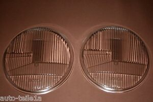 PORSCHE 911 912 H1 2 NOS RHD HEADLIGHT LENSES WITH BOSCH LETTERING RARE