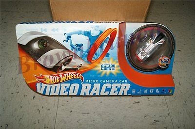 Hot Wheels Video Racer Micro Camera Car W/ Lcd Screen Silver Red