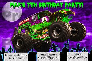 Monster Jam Birthday Invitations is amazing invitations design