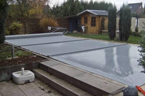schwimmbad winter plane abdeckplane pool winterplane abdeckung in nordrhein westfalen. Black Bedroom Furniture Sets. Home Design Ideas