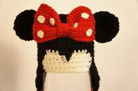 Disney's Minnie Mouse crochet hat for newborns infants hand knit