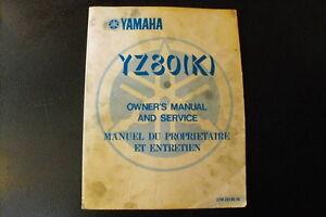 Yamaha motocross repair manual( 1983 YZ 80 K) 18$