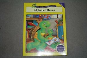 BRAND NEW Franklin Alphabet Mazes Activity Book