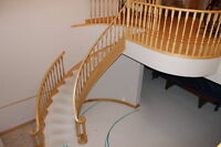 REDUCED TO CLEAR Oak Stair Case and Railing $1400.00