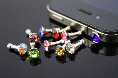 10pc Bling Anti Dust Proof Ear Cap Plug For iPhone 4S 4G 3GS 3G iPad 1 2 3 iPod on Rummage