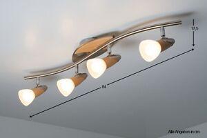 Lampada da soffitto 4 spot legno plafoniera moderno for Lampadario legno moderno