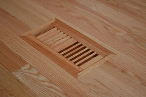 Solid Hard Wood Vent Covers Registers Grill Flush Mount
