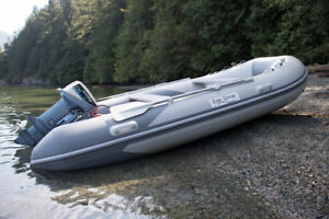 "12' 2"" Inflatable Boat with 9.9hp Motor"