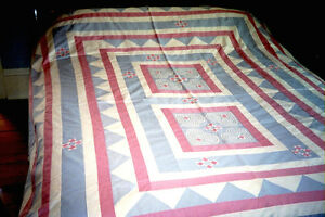 Quilted Bedspread or Decorative Hanging Piece (new)