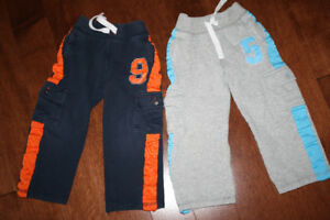2 Pairs Sporty Track Pants - 3T