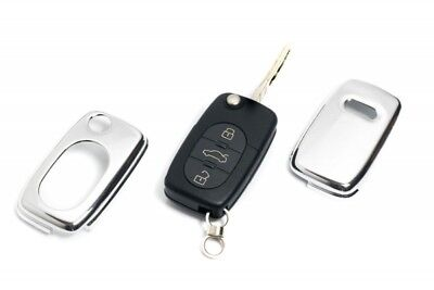 Audi Remote Flip Key Cover Case Skin Shell Cap Fob Protection Bag Hull Chrome